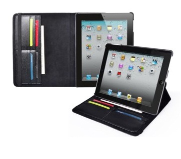 Rotary leather Stand Case for ipad2 , ipad3
